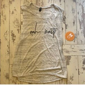 Yoga Na Ma Ste shirt, large, NWT